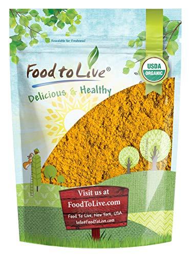 Organic Turmeric Powder, 2 Pounds - High in Curcumin, Non-GMO, Ground Turmeric Root, Raw, Kosher, Vegan, - Food Live Vegan
