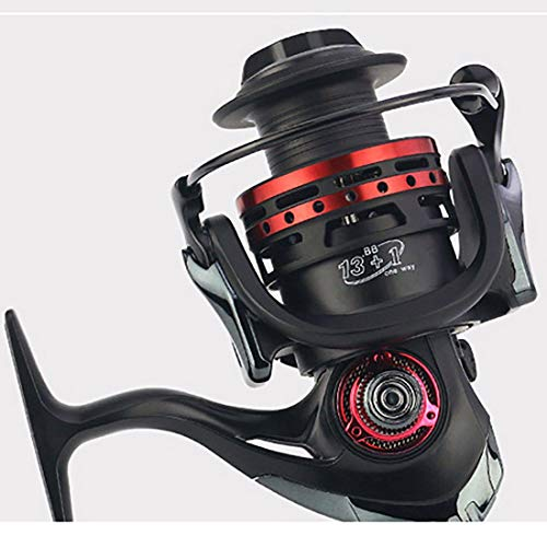 FELICIF Spinning Fishing Reel Left Right Interchangeable Handle for Saltwater Freshwater Fishing with Double Drag Brake System (Size : 6000)