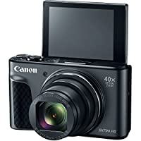 Canon PowerShot SX730 Digital Camera w/40x Optical Zoom & 3 Inch Tilt LCD - Wi-Fi, NFC, & Bluetooth Enabled - Black (CERTIF1ED REFURBISHED) from Canon