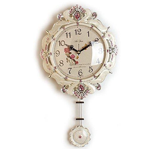 電波掛け時計 ビクトリーW 壁掛け時計 おしゃれ 電波時計 掛時計 北欧 時計 インテリア 振り子時計 B01E99W6I6