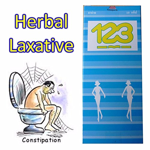 123 Natural Herbal Laxative 1 X 10 Capsules Pack Size