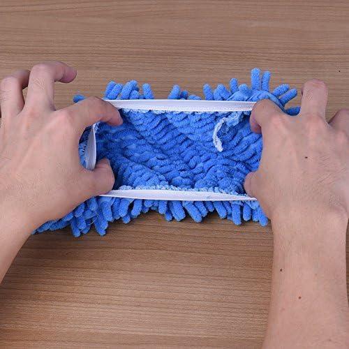TM Multifonction poussi/ère Nettoyage Balai serpill/ère Pantoufles Nettoyant pour Chaussures pour Maison Bureau Cuisine Salle de Bain Chambre /à Coucher Bleu Hemore