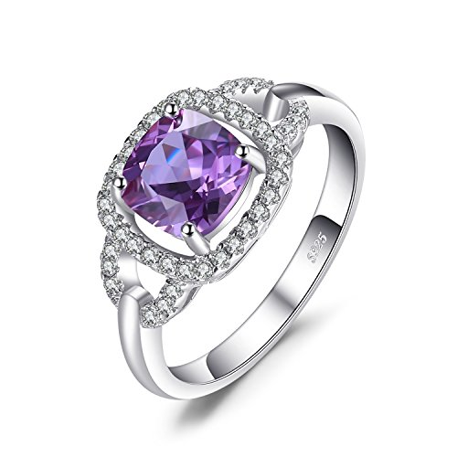 JewelryPalace Fashion 2.5ct Created Alexandrite Sapphire Halo Ring 925...