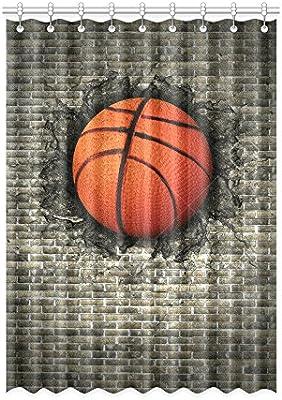 Personalizado baloncesto? 1) cortina de ventana 52