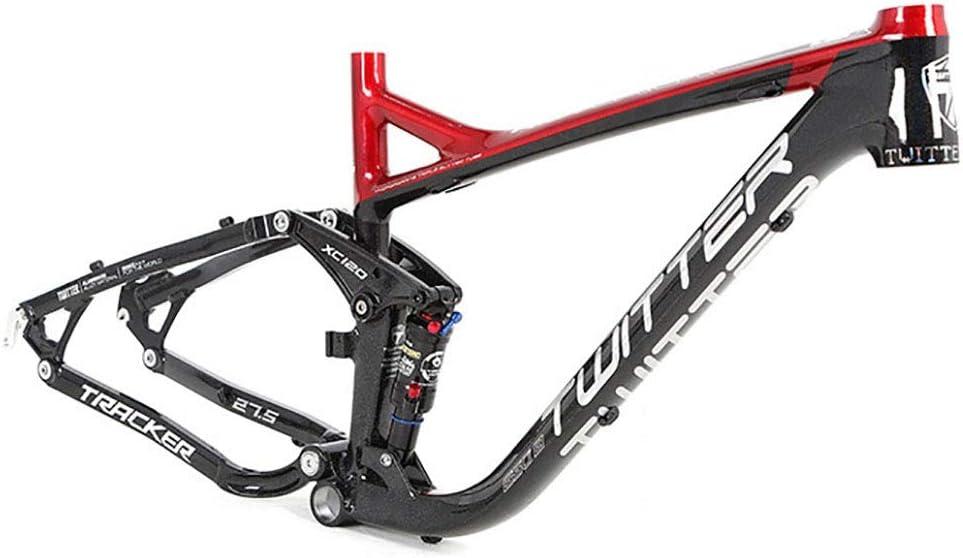 Zhengowen OS MTB Marco Aleación de Aluminio del Marco de la Cola Suave suspensión Completa del Marco de Bicicletas de montaña Bastidor de la Bicicleta Todo Terreno Marco de Fibra de Carbono