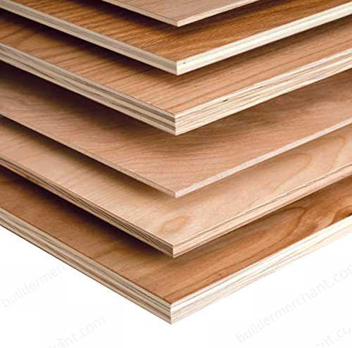 Builder Merchant 2x1ft Hardwood Plywood 5.5mm 610mm x 300mm (2ft x 1ft) by Builder Merchant