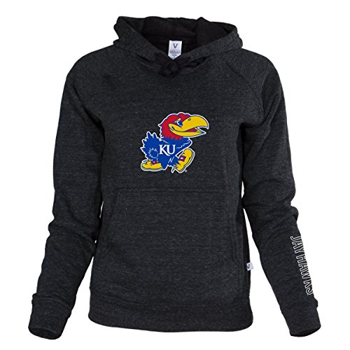 Official NCAA University of Kansas Fighting Jayhawks KU ROCK CHALK! Women's Buttersoft Tri- Blend Hoodie
