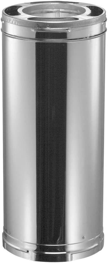 "DuraVent 6DP-24 DuraPlus Triple-Wall Chimney Pipe; For Wood Stoves, Fireplaces, Furnaces, Boilers, Stoves, Ranges, Water Heaters and Appliances Fueled by Wood, Oil, Coal or Gas, 6"" Diameter x 24"""