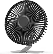 SLENPET 6 inch USB Desk Fan, Upgraded Strong Airflow, 4 Speeds, Ultra-quiet, 90° Rotation for Better Cooling,