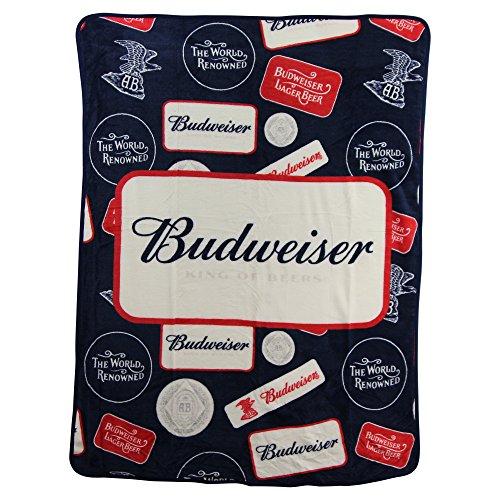 Budweiser Throw (Budweiser Brand Super Soft Plush Throw Blanket)