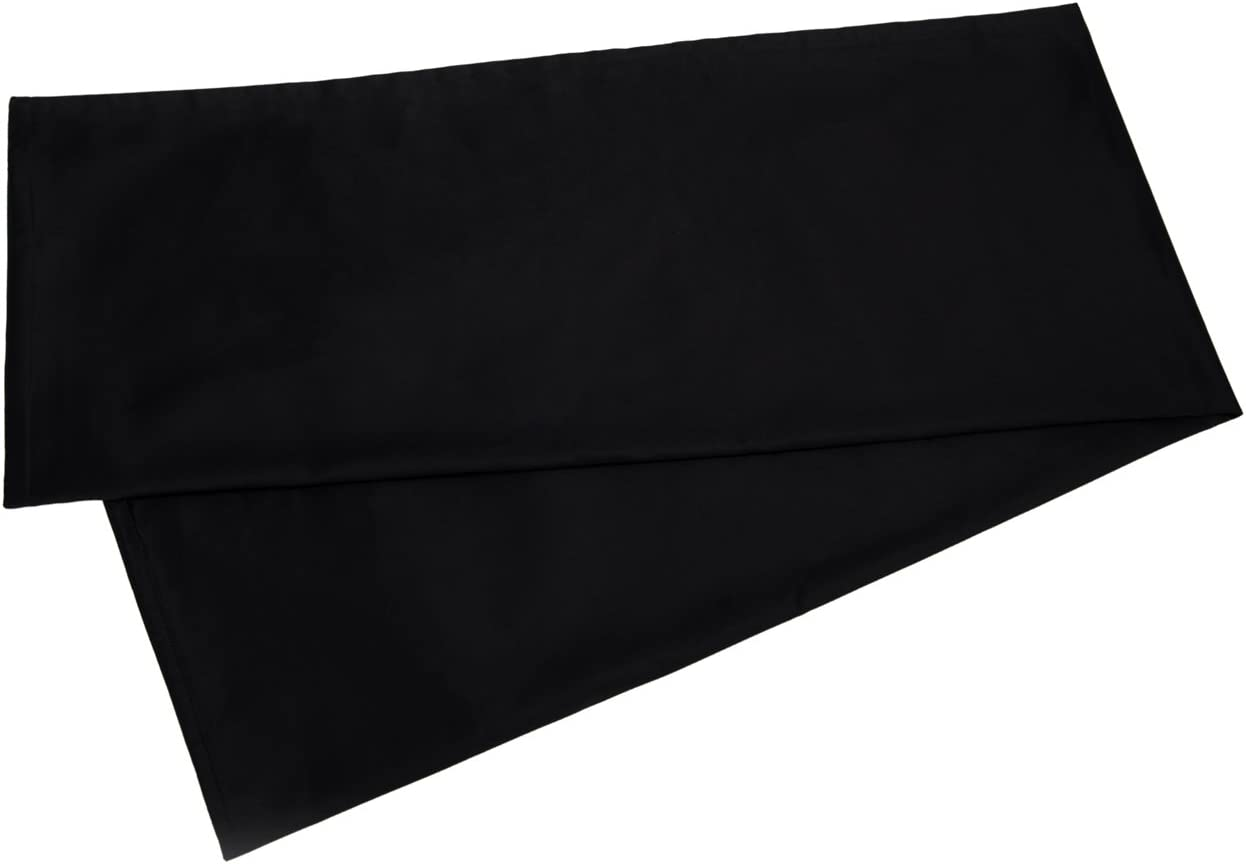 YAROO 21x48 Body Pillow Cover,Body Pillow Case Non-Zippered Enclosure,400 Thread Count,100/% Cotton,Solid,Black.