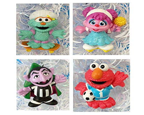 Sesame Street 4 Piece Christmas Ornament Set