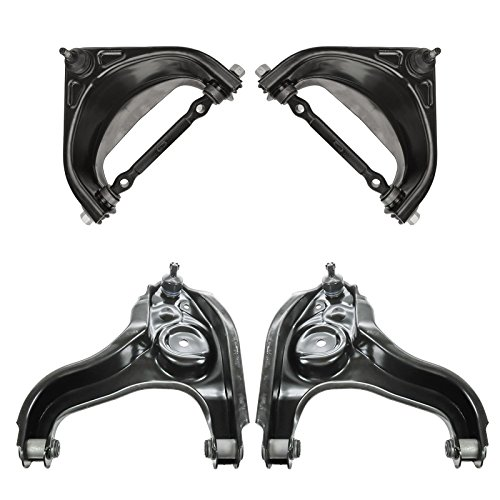 Front Upper Lower Control Arm with Ball Joint SET for 94-99 Dodge Ram 1500 2WD
