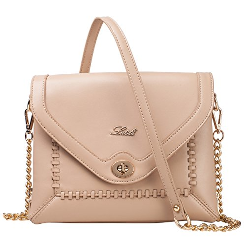 La Cle LA-052 Braided Crossbody Shoulder Leather Bag (Rose - Cambridge Shopping Mall