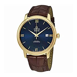 Omega De Ville Prestige Blue Dial Automatic Mens Leather Watch 424.53.40.20.03.002