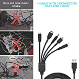 5 in 1 USB Charger Cable Cord for Nintendo NDS