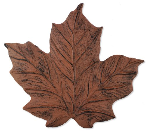 (Sunset Vista Designs Wilderness Wonders Cast Iron Maple Leaf Stepping Stone, 11-1/2 by 12-Inch)