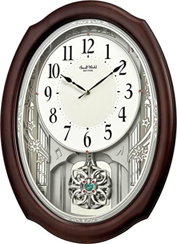 Rhythm Clocks Flor Musical Motion Clock