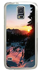 Samsung Galaxy S5 landscapes nature snow 4 PC Custom Samsung Galaxy S5 Case Cover Transparent
