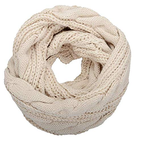 YSense Womens Winter Warm Ribbed Knit Infinity Scarf Fashion Thick Circle Loop Scarves