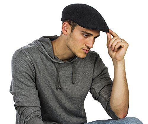 JOTW Mens 100% Wool IVY Cap Premium Classic Hat, Available In 5 Colors