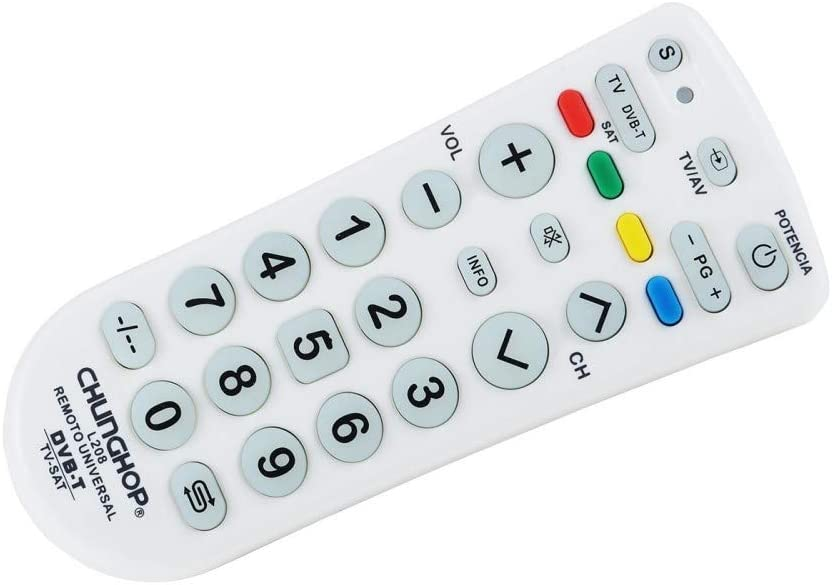 TrAdE Shop Traesio- Mando a Distancia Universal Chungop L208 TV DVB T Sat Multi Control Chunghop L208: Amazon.es: Electrónica