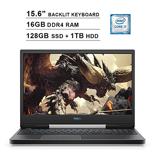 2019 Newest Dell G5 15 15.6 Inch FHD 1080P Gaming Laptop, (Inter 6-Core i7-9750H up to 4.5GHz, 16GB DDR4 RAM, 128GB SSD (Boot) + 1TB HDD, NVIDIA GeForce RTX 2060 6GB, Backlit KB, Windows 10) (White)