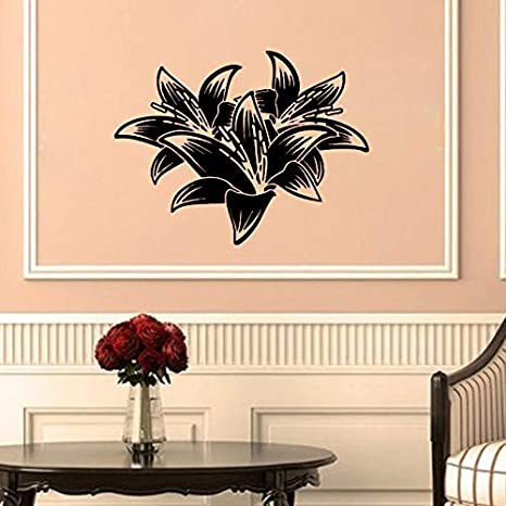 hermosos diseños de pared de dormitorio Jiuyaomai Hermosas Flores Pegatinas De Pared Decoracin Para