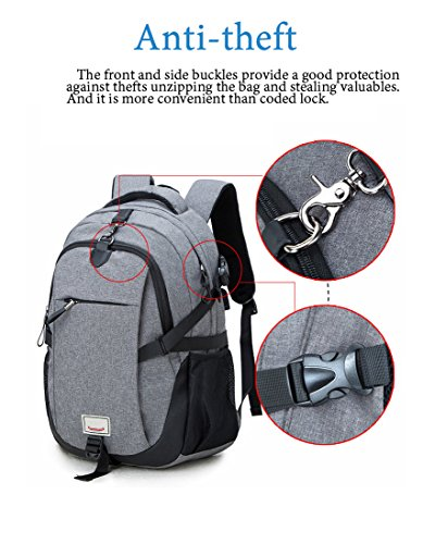 Anti-theft Travel Laptop Backpack,Water Resistant Bag with USB for School