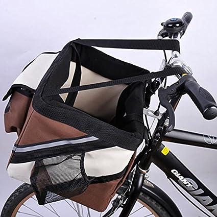 Manillar de Bicicleta de olayer Pequeño Pet Carrier cesta de bicicleta con bolsillos para perro: Amazon.es: Productos para mascotas