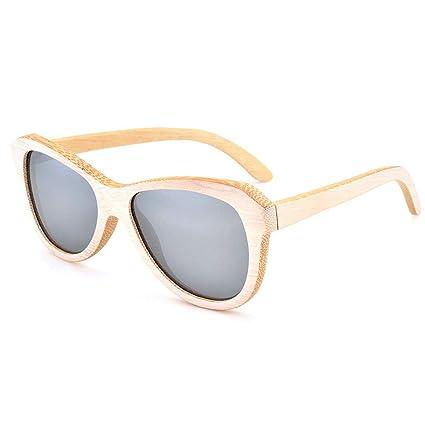 Gafas sol polarizadas Madera de bambú del Vintage, vidrios del Ojo de Gato de la
