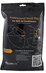 The AIRCONcare Kit Wash Bag is specially designed to attach to your air conditioning unit with a strong elastic band. This allows for a secure fit not matter the type or model of air conditioner you are cleaning. The snug fit of the wash bag ...