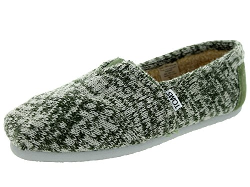 Toms Women's Classic Knit Chive Green Casual Shoe 7.5 Women US