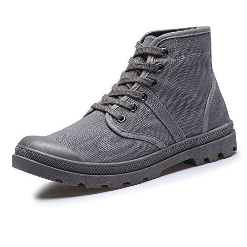 Scarpe casual maschile vestito alpinismo autunno all'aperto [fondo morbido] scarpe di tela slip on nero-A Lunghezza piede=40EU