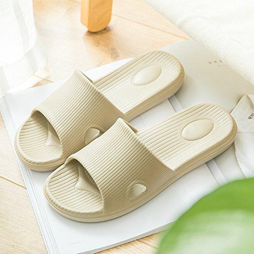 fankou Slippers Women Indoor Cool Slippers Summer Home Interior Home Bath Anti-Slip Slippers Bathroom Slippers for Couples Male Female,41-42, Khaki