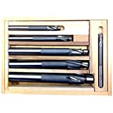 HHIP 2007-0003 6 Piece High Speed Steel 3 Flute Solid Pilot Counter bore Set