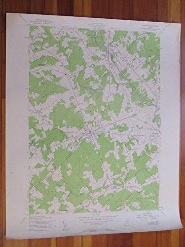Gorham Maine 1958 Original Vintage USGS Topo Map