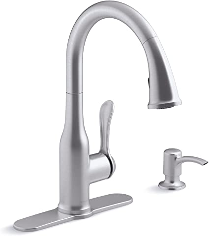 Kohler K R23863 Sd Vs Motif Kitchen Sink Faucet Vibrant Stainless Touch On Kitchen Sink Faucets Amazon Canada