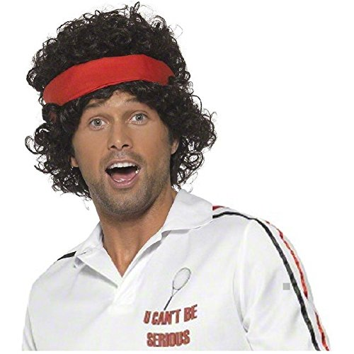 John McEnroe 80s Tennis Player Wigfor Adults
