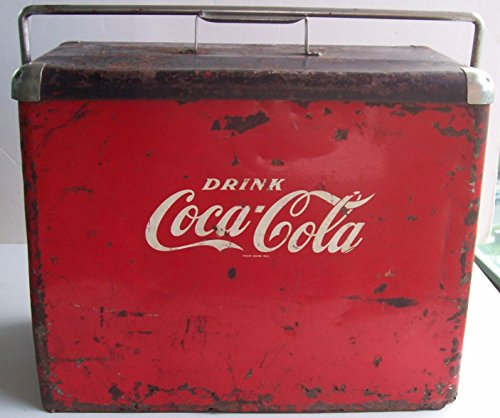 COCA-COLA - COOLER ICE CHEST BOX ORIGINAL with BOTTLE OPENER VINTAGE CANADA