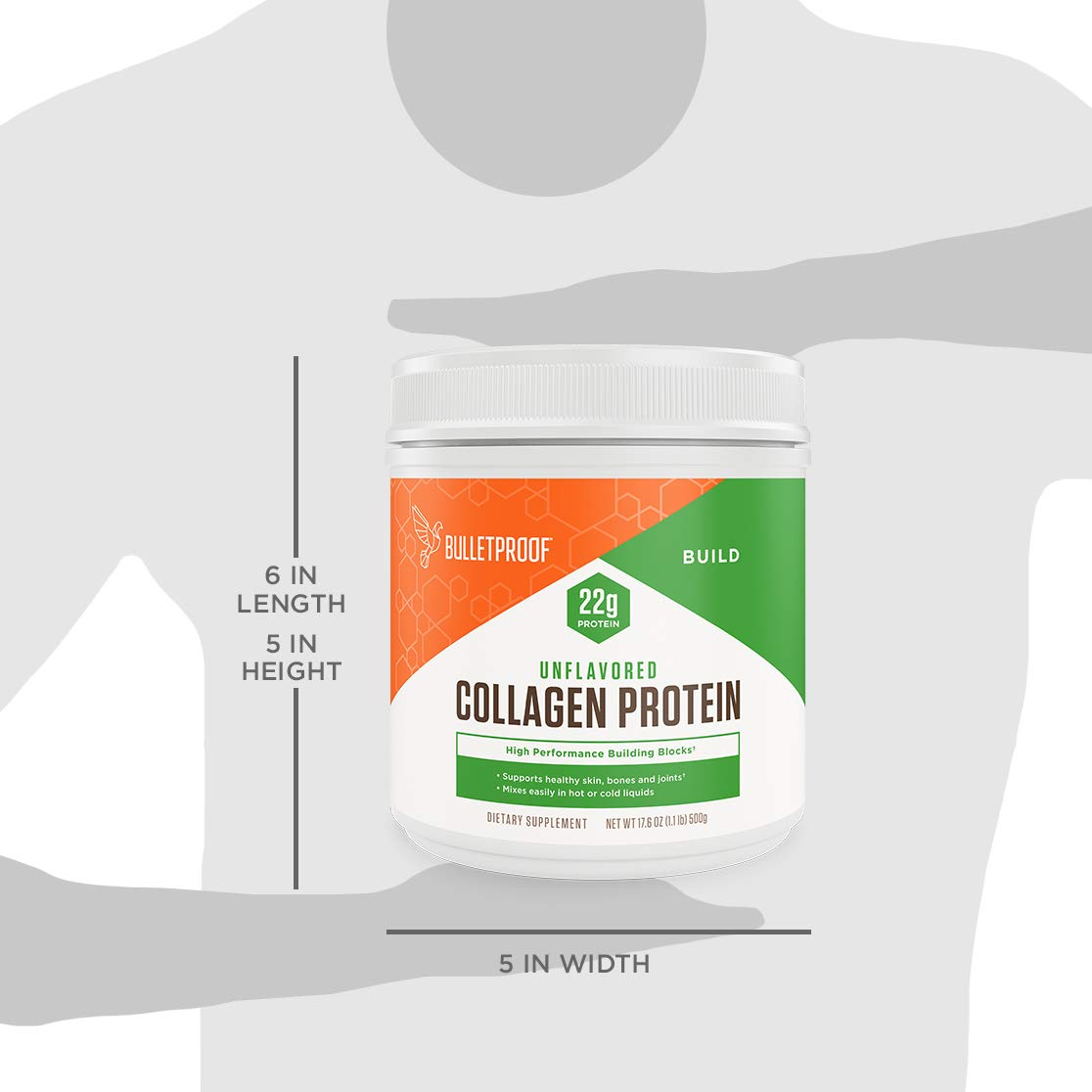 Bulletproof Collagen Protein Powder, Unflavored, Keto-Friendly, Paleo, Grass-fed Collagen, Amino Acid Building Blocks for High Performance (17.6 oz) by Bulletproof
