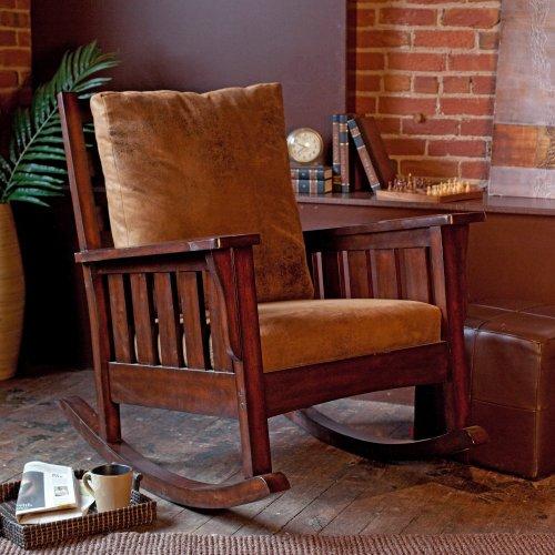Belham Living Remington Mission Rocker - Walnut (Replacement Cushions Morris Chair)
