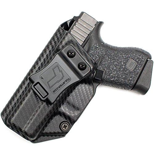 Glock 43 Holster - Tulster Profile Holster IWB (Black Carbon Fiber - Left Hand)