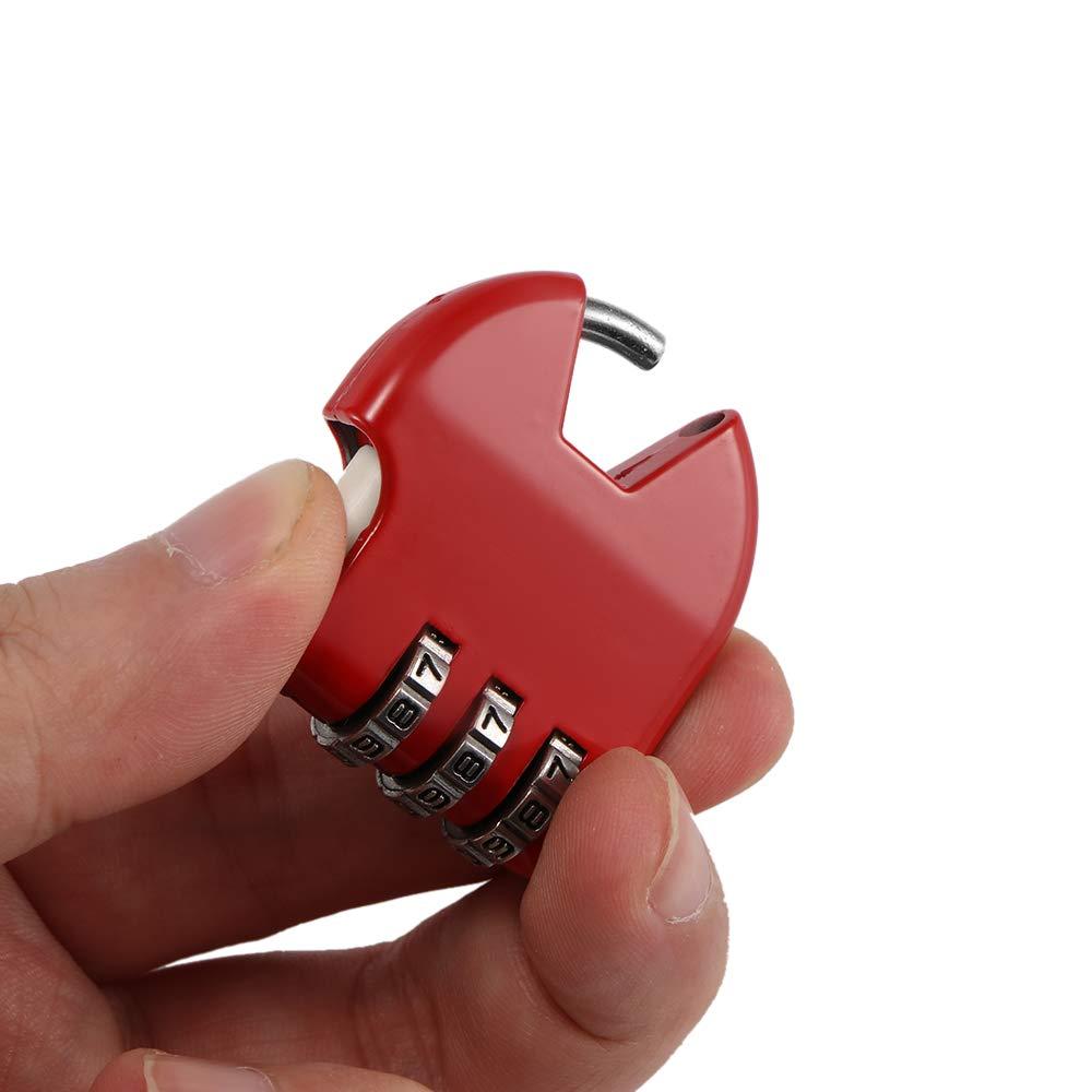 Cadenas /à combinaison code par mot de passe pour le stockage bo/îte /à bijoux Bo/îte femmes sac /à main Sac /à dos Fille Diary tiroir