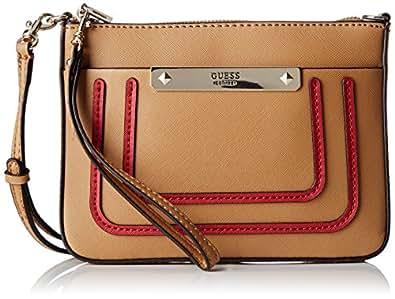 GUESS Hwbo6693720, Bolsos de mano Mujer, Multicolore (Tan Multi), 12x22.5x28.5 cm (W x H L)