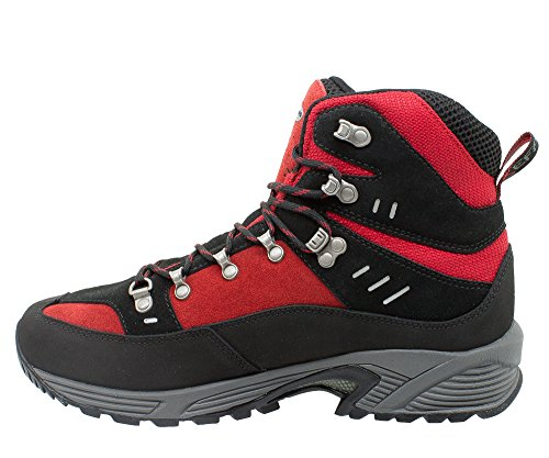 Hiking Suola E Scamosciato Rosso Vibram Progress Kefas Trekking Donna Fodera Scarpe 3260 Idro Da Nero Uomo Tridensità Biodry nWUFBOS