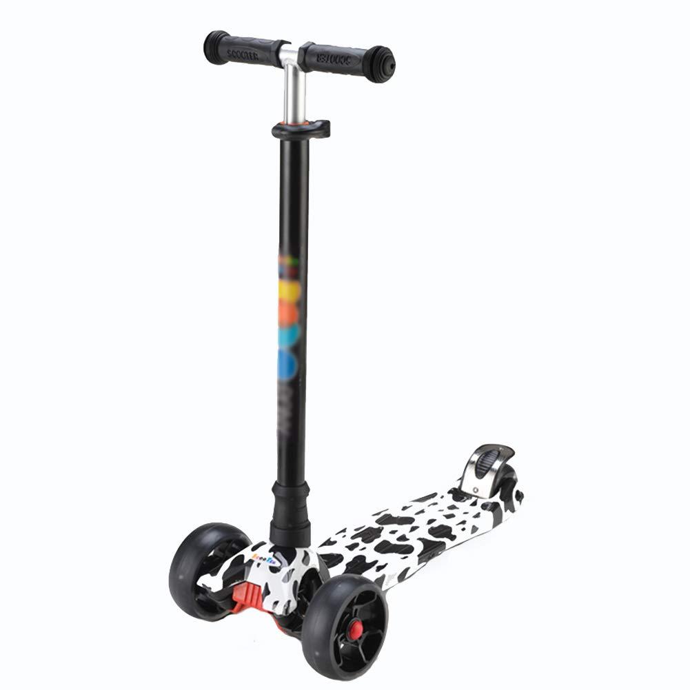 高価値セリー キックスクーター三輪車スケートボードペダル式乗用スタントスクーターLED調節可能な折りたたみTバーハンドルライトアップホイール付き B07HCNVYW3 B07HCNVYW3 Cow Cow, セキチョウ:b964a9f6 --- a0267596.xsph.ru
