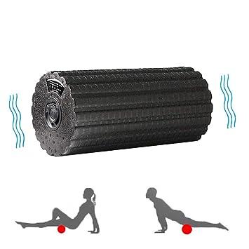 WODT Vibración eléctrica Masaje Yoga Espuma Rodillo Respaldo ...