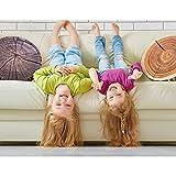 HYSEAS Decorative Round Throw Pillow, 3D Digital