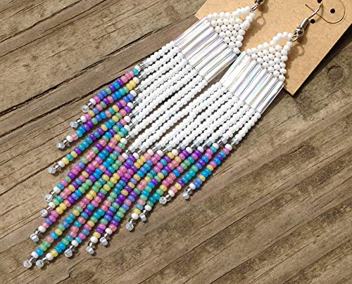 Candy Opal Beaded Shoulder Duster Earrings